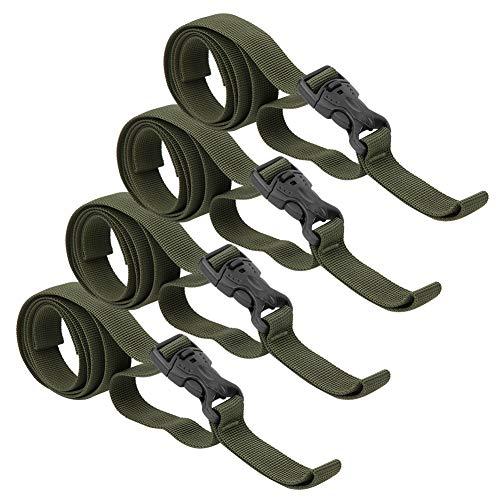 135 cm Militärgrün PP PP Gurtband Gepäckriemen, Gepäckriemen Koffer Fester Riemen, 4 STK. 200 g für Schlafsack wasserdichte Tasche Außenzelt