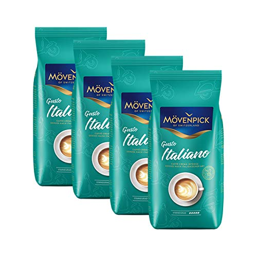 Mövenpick Caffè Crema Gusto Italiano Intenso 4x1000g (4000g) - Kaffee Crema