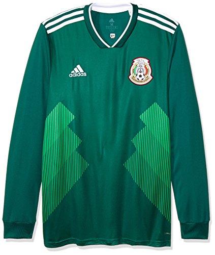 Jersey Oficial Selección de México Local para Hombre, Manga Larga, color Verde, Mediano