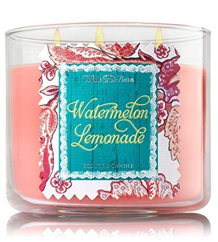 Bath & Body Works 2014 White Barn WATERMELON LEMONADE 3 Wick Scented Candle 14.5 oz./411 g by White Barn