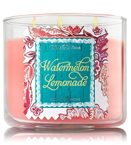 Bath & Body Works 2014 White Barn WATERMELON LEMONADE 3 Wick Scented Candle 14.5 oz./411 g by White Barn