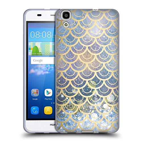 Head Case Designs Offizielle Nature Magick Ocean Blue Gold Scales Mermaid Gold Scales Soft Gel Huelle kompatibel mit Huawei Y6 / Honor 4A