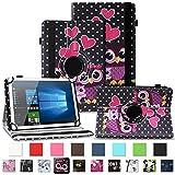 NAUC Schutzhülle für Alcatel Pixi 4 7 Zoll Tablet Tasche Hülle mit Standfunktion 360° drehbar Kunst-Leder Cover Universal Hülle, Farben:Motiv 4