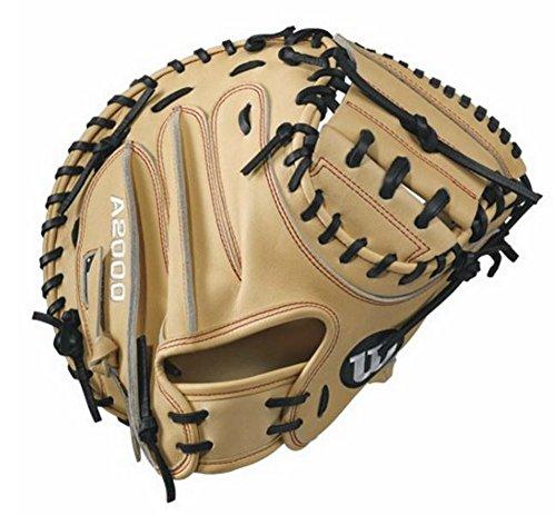 WILSON A2000CM33Guanto da Baseball, 83,8cm, Biondo/Rosso Mano Sinistra