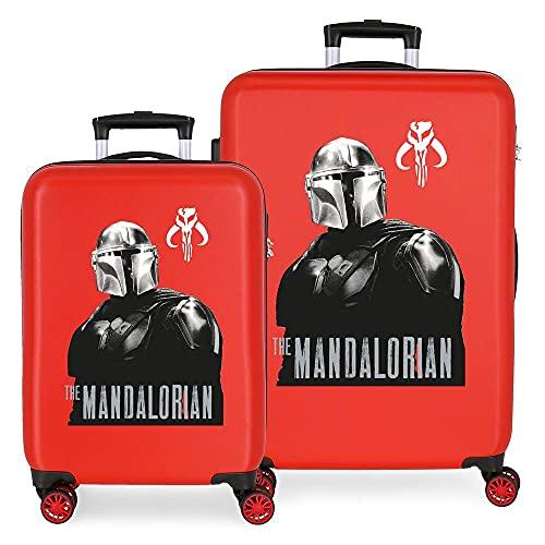 Star Wars The Mandalorian Juego de maletas Rojo 55/68 cms Rígida ABS Cierre de combinación lateral...