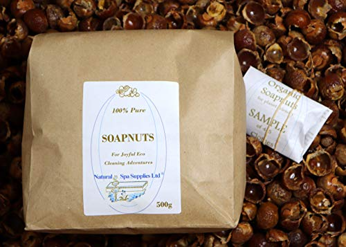500g Soapnuts, Soap Nuts, Soap Berries, Wash Nuts, Organic, with Free Sample for a Friend. Eco Green Laundry, Washing Up, Surface Cleaner, Shiny Surfaces. Biodegradable and Truly Kind to the Sensitive Skin. by Natural Spa Supplies Ltd