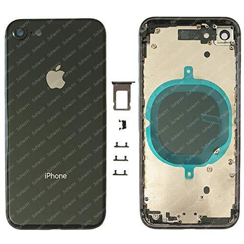 Back Cover Telaio SCOCCA Posteriore con Vetro iPhone 8 A1905 A1906 A1863 Nero