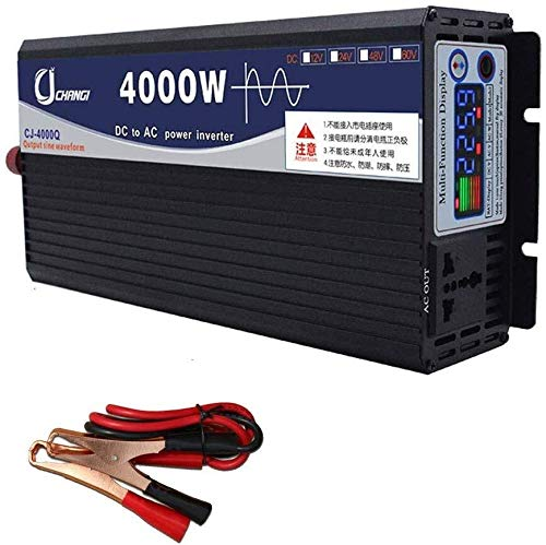 JQZ Car Inverter Wandler DC 12V / 24V / 48V / 60V bis 220V AC Hoch effiziente Power Inverter for Smartphones Tablet Laptop Brustpumpe Car Inverter (Color : 4000w, Size : 48V)