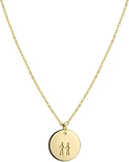 Fettero Sisters Floating Disc Choker Necklace Gift for Mothers Sisters Grandmas or Best Friends Personalized BFF Pendant J...