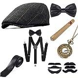 Sinoeem 1920s Accessoires Set Damen Retro Stil und Herren Accessoires Mafia Gatsby Kostüm Set für...