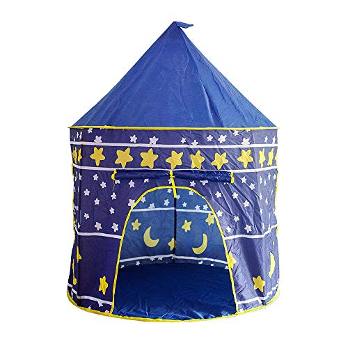 Ryoizen Star Printed Play Tent for Kids, Indoor Pop Up Playhouse Tent for Boys and Girls Folding Tent Outdoor Indoor Game Yurt