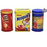H-Tanner Metalldosen Set Pringels, Prinzenrolle, Nesquik 7 cm: Kaufladen Zubehör Lebensmittel Dosen Kaufmannladen Spielküche Zubehoer
