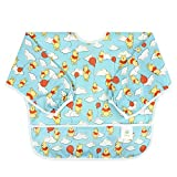 Bumkins Disney Winnie The Pooh Sleeved Bib / Baby Bib / Toddler Bib / Smock, Waterproof, Washable, Stain and Odor Resistant, 6-24 Months - Balloon