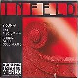 Thomastik-Infeld IR01 Red Violin Strings, Single E String, 4/4 Size, Chrome Steel, Gold Plated