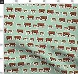 Das Vieh, Kuh, Bauernhof, Kühe Stoffe - Individuell