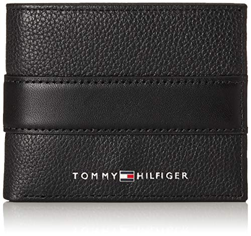 Tommy Hilfiger - Downtown Mini Cc Wallet, Negro (Black), 2 x 8.7 x 11 cm