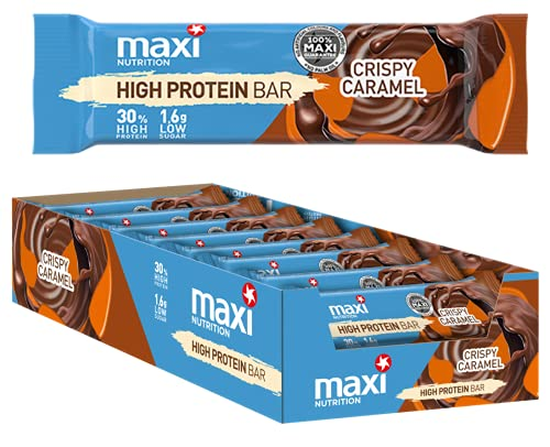 MaxiNutrition High Protein Bar Crispy Caramel, 18 x 35 g (630g)