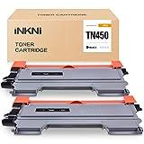 INKNI Compatible Toner Cartridge Replacement for Brother TN450 TN 450 TN420 TN 420 for Brother HL-2270DW HL-2280DW HL-2230 HL-2240D HL-2240 MFC-7860DW MFC-7360N MFC-7460D (2 Pack, Black)