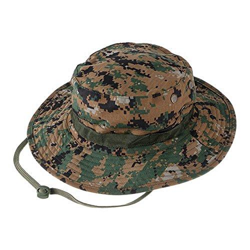 GEMSeven GEMSeven Tactical Camouflage Hüte Armee Cadet Military Cap Sommer Outdoor Camping Wandern Mann Runde Angeln Huing Hut