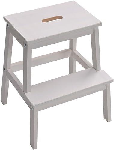 LIXIONG Fu cker aus massivem Holz Leiter Hocker hoch Haushalt Schuhbank 5cm hoch, 3 Farben Bibliothekshocker (Farbe   Weiß