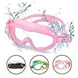 OMORC Taucherbrille Kinder, Schwimmbrille Anti-Fog UV-Schutz, Auslaufsichere Schnorchelbrille,...