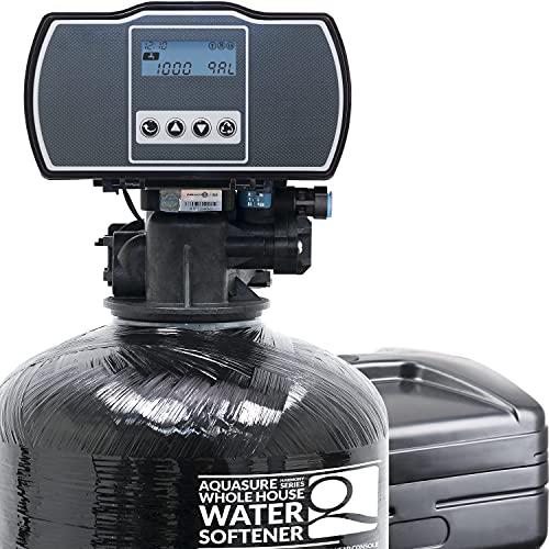 Aquasure Harmony Series Whole House Water Softener with High Efficiency Digital Metered Control Head (64,000 Grains)