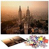 Vista de la Basílica del Sagrado Corazón de París Puzzle Adultos 1000 Piezas Puzzle Adulto 1000 Piezas Imposible Tangram Tangram