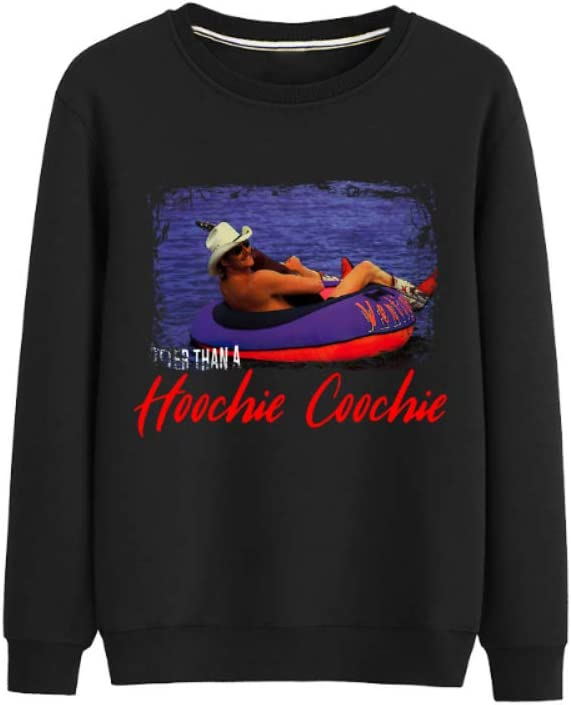 Bgdgjrkjk Pullover Hotter Than a Hoochie Coochie All-Match Pullover Casual Print Men (Color : B02, Size : Large)