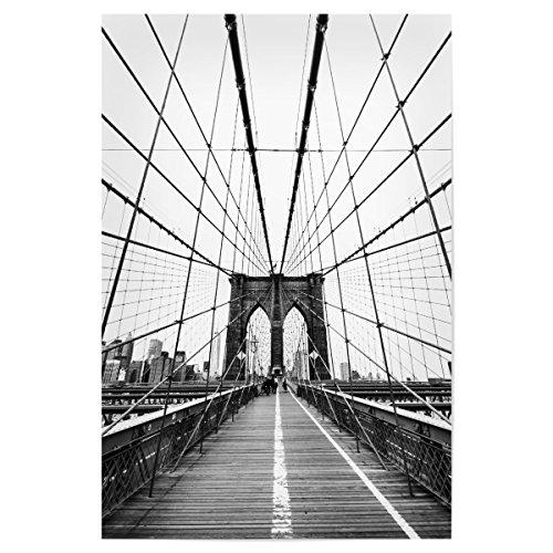 artboxONE Poster 30x20 cm Netz von New York von Künstler Florian Kunde