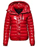 Superdry A4-Padded Chaqueta, Rouge Red, S para Mujer