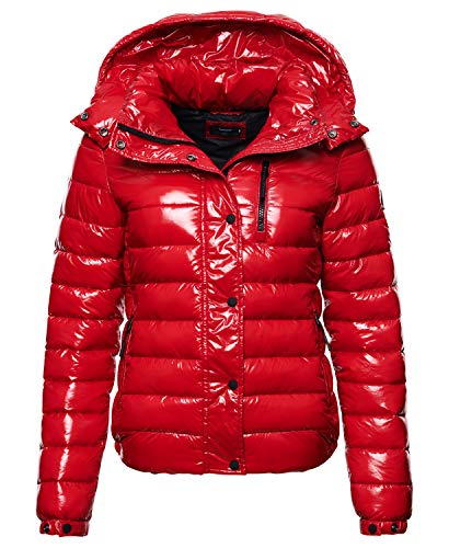 Superdry Womens A4-Padded Jacket, Rouge Red, S