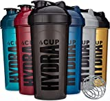 6 PACK - Hydra Cup OG Shaker Bottles, 24 oz Max Value Pack, Protein Shaker Cups, 6qty Stand Out Colors.