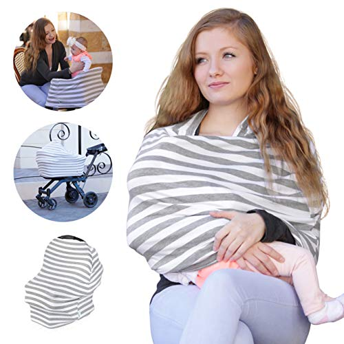 Big Save! Nursing Cover for Breastfeeding – Soft, Stretchy | Car Seat Covers for Babies & Stroller...