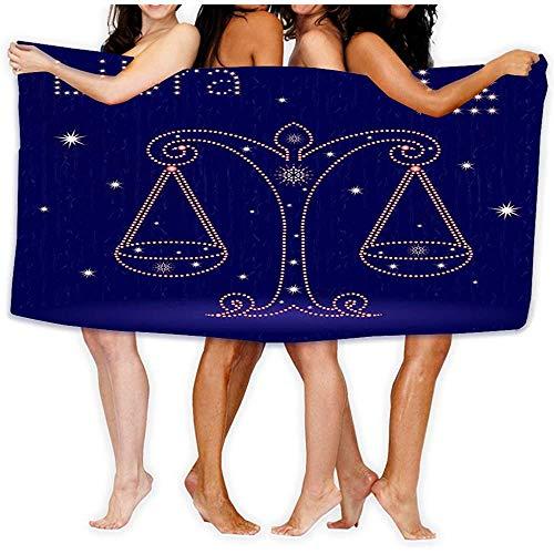 Yocmre badhanddoek koel zacht strand handdoek handdoek dierenriem teken Weegschaal dierenriem teken Weegschaal sterrenhemel han