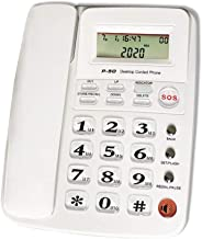 $29 » Corded Phone with Caller ID, HePesTer P-50 Wired Landline Phone for Home Elderly Phone with Big Button Amplified Speakerph...