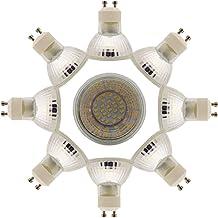 8 x GU10 LED-lampen, 1,5 W, lampen 28 SMD 3014 LED, warm wit, 3000 K, hoge verlichting, 100 lm, LED-lamp AC 220 V