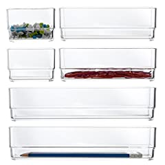 VERSATILE drawer organizers proudly made in USA Customize any drawer with 2 each: 3-inch by 3-inch, 6-inch by 3-inch, and 9-inch by 3-inch NESTING and sliding compartments The combination of sizes is JUST RIGHT for beauty products and office supplies...