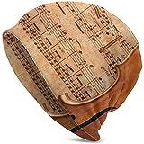 TABUE Violonchelo en Hoja de música Antigua Oxidado Viejo Amarillo Pa Gorras Tejidas Gorro de Gorro de Punto Gorras de Calavera Gorro de Calavera
