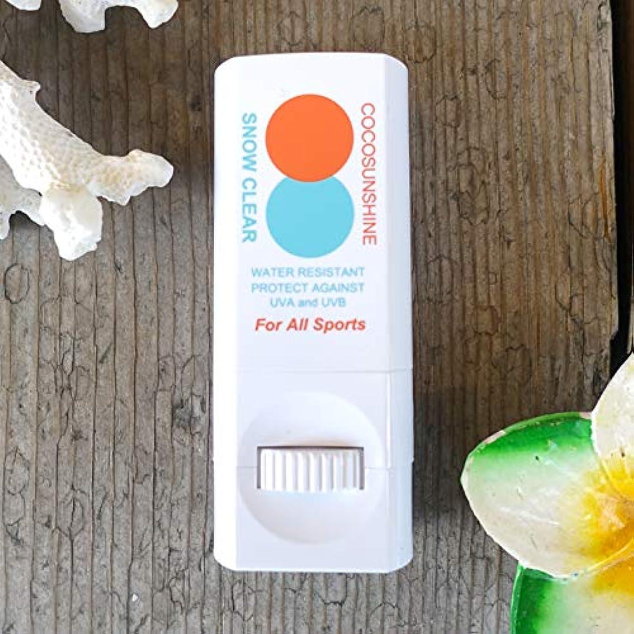 君主制パスポート机Snipe Sports Cosmetic(スナイプ スポーツ コスメティック) COCO SUNSHINE ココサンシャイン 固形 日焼け止め スティック 練り出しタイプ UVプロテクト SPF30 PA++ スノークリア