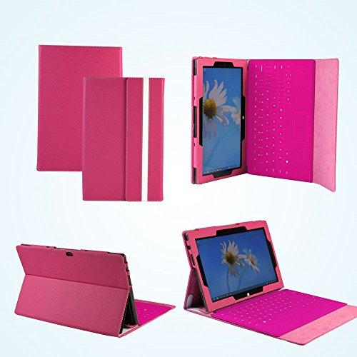 Navitech - Custodia in simil pelle per Microsoft Surface Pro 64 GB / 128 GB Window 8 (non per RT) Rosa rosa