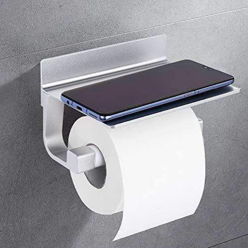 Toilettenpapierhalter, Dalmo DBPH01SR Papierhalter, Raum Aluminium Klopapierhalter, Super große Größe WC Halfter, Multifunktion Rollenhalter, Hohe Tragfähigkeit Papierhalter für Küche und Badzimmer