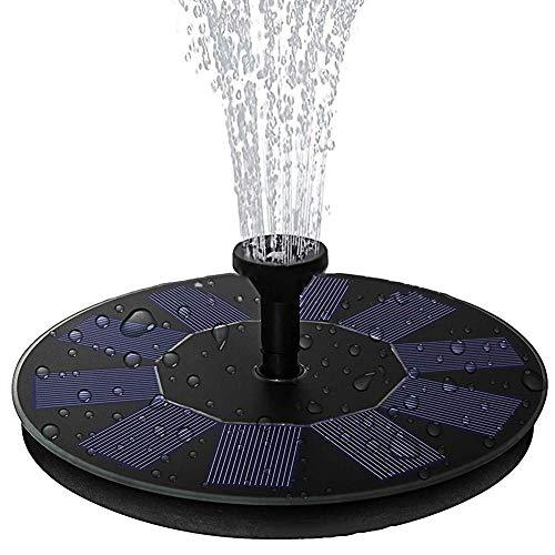 Solar Springbrunnen Pumpe,Solar Brunnenpumpe für Gartenteich, Brunnen Garten Solar 2W Kreis Garten Upgraded Schwimmende Fountain Pump für Birdbaths und Teiche