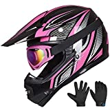 ILM Youth Kids ATV Motocross Helmet Goggles Sports Gloves Dirt Bike Motorcycle