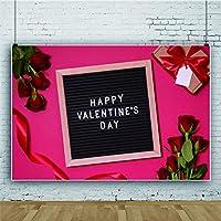 Qinunipoto 写真撮影用 背景布 バレンタインデー Happy Valentine's Day プレゼント 撮影 記念写真 薔薇 縁结び 撮影 1.5x1m 無反射 透けない 動画 生放送 撮影背景 おしゃれ パーティー cosplay 背景 壁飾り 背景装飾 写真スタジオ 自宅用 ビニール製