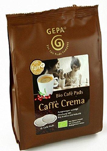 Gepa Bio Kaffee Pads Crema , 1 Karton mit 6 Pack ( 6 x 126g ) 108 Pads. Grundpreis pro 100g: 3,29€