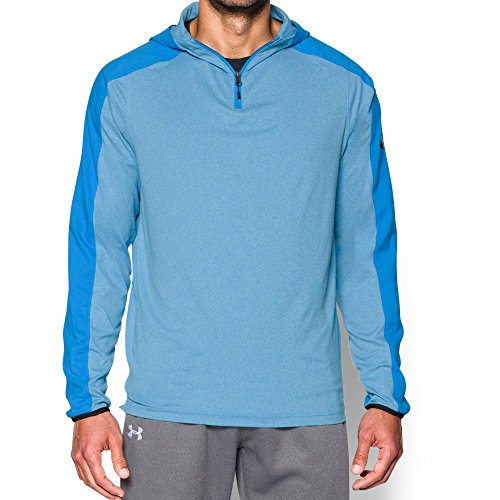 Under Armour CP LW Hooded 1/4 Zip Sweatshirt, Homme, Homme, Bleu électrique, M