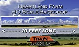 Train Junkies Heartland Farm - Railroad Backdrop HO OO Scale