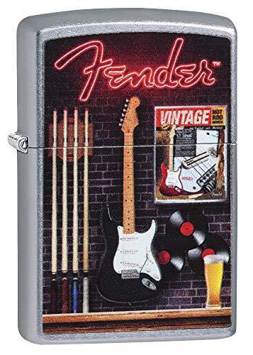 Zippo Fender Feuerzeug, Silber, One Size