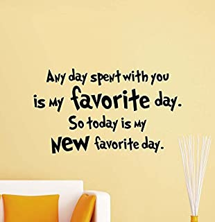 Julia Cruz Any Day Spent With You Is My Favorite Day Wall Decal Winnie the Pooh Quote Walt Disney Gift Ideas Kids Bedroom Vinyl Sticker Nursery Decor Art Playroom Poster Mural Print 811