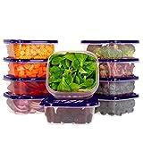 Oursson Frischhaltedosen Set aus BPA-freiem Plastik, Vorratsdosen-Sets, mit lila Deckeln, Lunchbox, CP5081S/SP (10x400 ml, Lila)